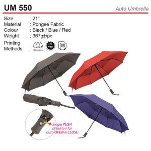 21 inch Auto Open Umbrella (UM550)