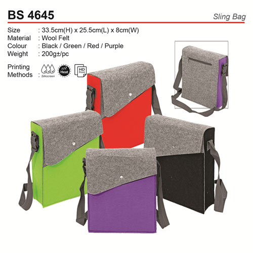 Wool Felt Sling Bag (BS4645)