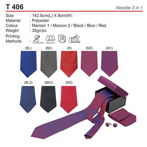 3 in 1 Necktie with box (T406)