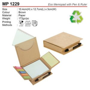 Eco Memobox with pen & ruler (MP1229)