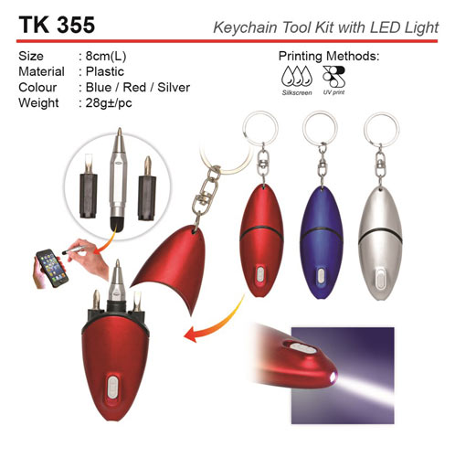 Keychain Tool Kit with Light (TK355)