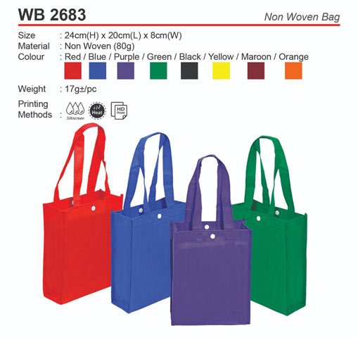 Non Woven Bag with Button (WB2683)