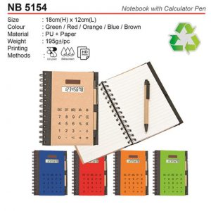 Eco Notebook with Calculator (NB5154)