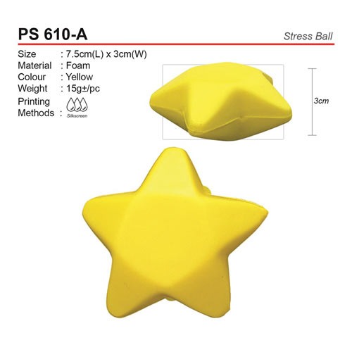Star Shaped Stress Ball (PS610-A)