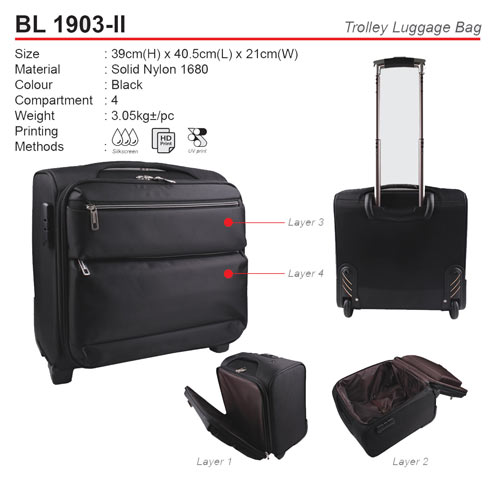 Classic Trolley Luggage Bag (BL1903-II)