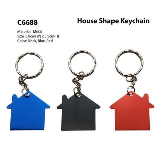 House Shape Keychain (C6688)