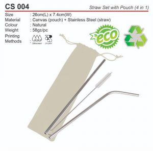 Metal Straw with pouch (CS004)