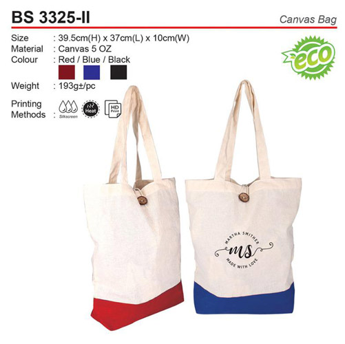 Canvas Bag with Button (BS3325-II)