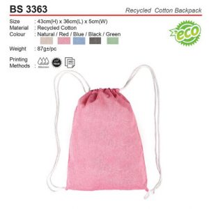 Cotton Sling Bag (BS3363)