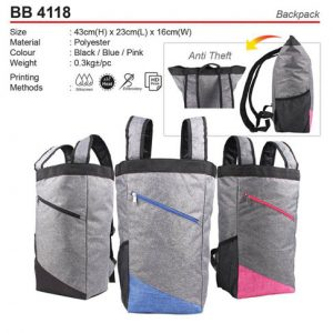 Anti theft Backpack (BB4118)