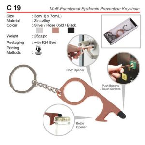 Covid 19 Prevention Keychain (C19)